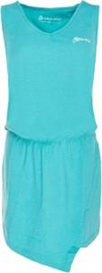 Turkusowa sukienka Alpine Pro w sportowym stylu bez rękawów w kształcie litery v