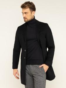 Czarny płaszcz męski Tommy Hilfiger
