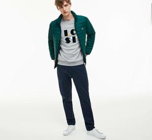 Zielona kurtka Lacoste w stylu casual