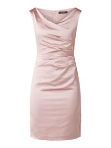 Różowa sukienka Vera Mont prosta mini z satyny