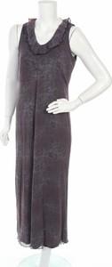 Fioletowa sukienka Ze-ze Concept maxi na ramiączkach
