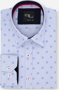 Niebieska koszula Pako Lorente z długim rękawem