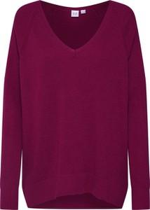 Fioletowy sweter Gap z dzianiny w stylu casual