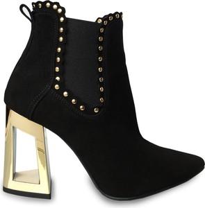 Czarne botki Calzado z zamszu