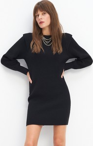 Czarna sukienka Mohito w stylu casual z długim rękawem mini