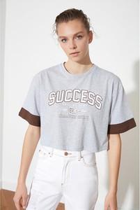 Bluzka Trendyol z bawełny z krótkim rękawem
