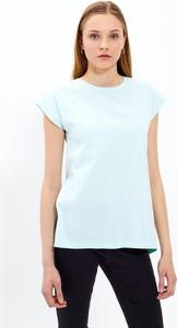 T-shirt Gate z bawełny z okrągłym dekoltem z krótkim rękawem