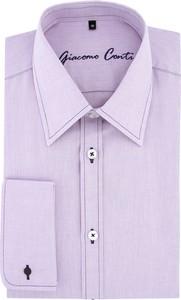 Fioletowa koszula Giacomo Conti z długim rękawem