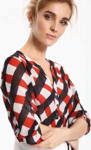 Bluzka Top Secret w młodzieżowym stylu z długim rękawem z dekoltem w kształcie litery v