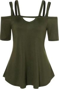 Zielona bluzka Sandbella z krótkim rękawem