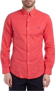 Czerwona koszula POLO RALPH LAUREN z bawełny z kołnierzykiem button down