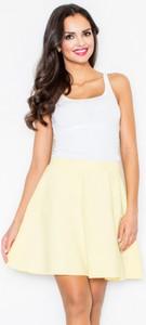 Żółta spódnica Figl mini