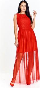 Sukienka Vegas z okrągłym dekoltem maxi