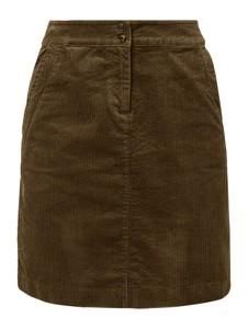 Zielona spódnica Tom Tailor mini ze sztruksu w stylu casual