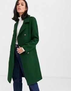 Zielony płaszcz Gianni Feraud z wełny