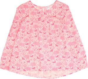 Różowa bluzka dziecięca Gap z długim rękawem