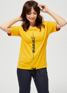 Bluzka Moodo z okrągłym dekoltem w młodzieżowym stylu