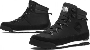 Czarne buty zimowe The North Face z zamszu w sportowym stylu