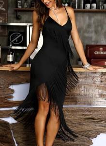Sukienka Sandbella na ramiączkach asymetryczna mini