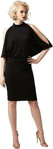 Czarna sukienka fADD ołówkowa