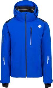 Niebieska kurtka Descente z tkaniny
