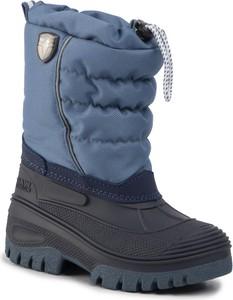 Niebieskie buty dziecięce zimowe CMP sznurowane