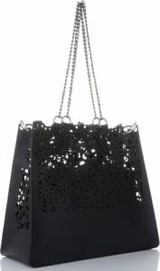 Czarna torebka VITTORIA GOTTI w wakacyjnym stylu ze skóry