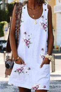Sukienka Ivet.pl mini w stylu casual z okrągłym dekoltem