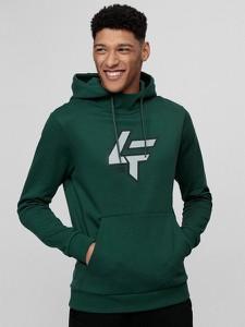 Zielona bluza 4F w młodzieżowym stylu z bawełny