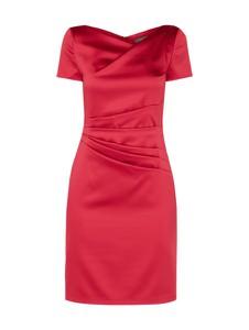 Czerwona sukienka Marie Noir z dekoltem w kształcie litery v mini dopasowana