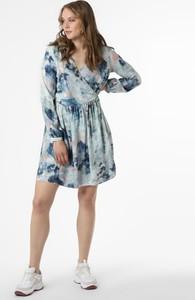 Niebieska sukienka ARMEDANGELS z dekoltem w kształcie litery v