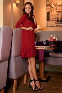 Sukienka TAGLESS z okrągłym dekoltem mini