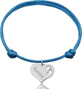 Mak-biżuteria BR987 BRANSOLETKA Z GRAWEREM, SREBRO 925 serce z ażurowym wzorem