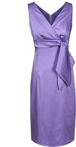 Sukienka Fokus midi z tkaniny z dekoltem w kształcie litery v