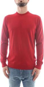 Czerwony sweter Emporio Armani