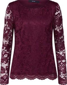 Czerwona bluzka Vero Moda w stylu boho