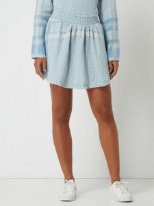 Niebieska spódnica Cecilie Copenhagen z bawełny mini