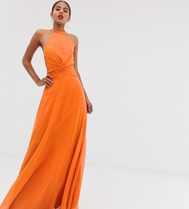 Pomarańczowa sukienka Asos z golfem