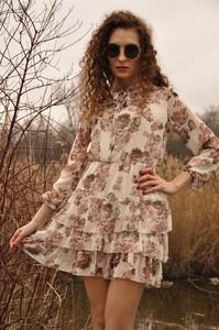 Sukienka HAVANA DESIGN mini z szyfonu