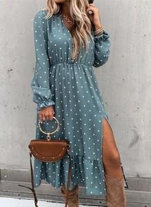 Sukienka Sandbella w stylu casual z okrągłym dekoltem
