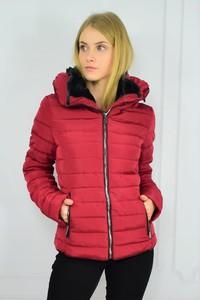 Czerwona kurtka Versace ze skóry ekologicznej w stylu casual