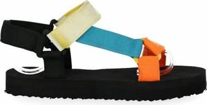 Czarne sandały BELLUCCI z zamszu