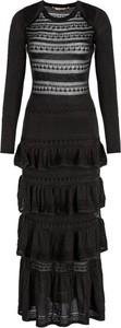 Czarna sukienka Twinset z długim rękawem z okrągłym dekoltem