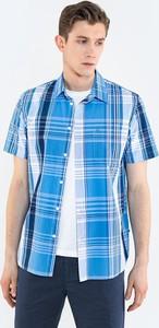 Niebieska koszula Big Star z tkaniny z klasycznym kołnierzykiem