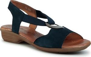 Czarne sandały Go Soft na średnim obcasie