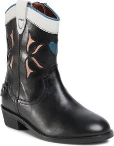 Czarne buty dziecięce zimowe Pepe Jeans dla dziewczynek