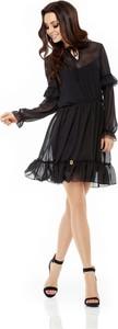 Sukienka Lemoniade rozkloszowana mini z szyfonu
