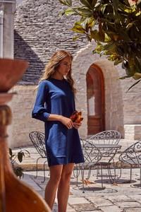 Sukienka MOE z dresówki z długim rękawem