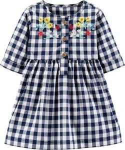 Sukienka dziewczęca Carter's w krateczkę