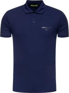 Koszulka polo Versace Jeans z krótkim rękawem
